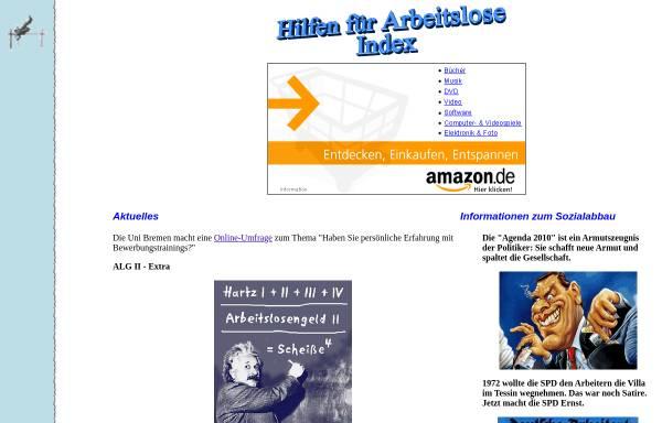 Vorschau von www.erwerbslose.de, Arbeitslosen-Forum