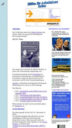 Vorschau der mobilen Webseite www.erwerbslose.de, Arbeitslosen-Forum