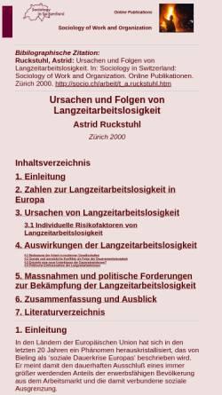 Vorschau der mobilen Webseite socio.ch, Astrid Ruckstuhl: Ursachen und Folgen von Langzeitarbeitslosigkeit