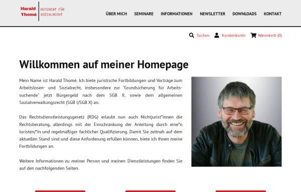 Vorschau von www.harald-thome.de, Harald Thomé