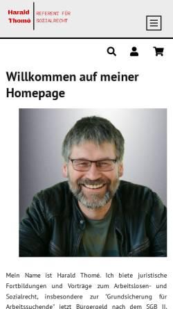 Vorschau der mobilen Webseite www.harald-thome.de, Harald Thomé