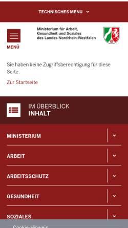 Vorschau der mobilen Webseite www.ja.nrw.de, Jugend in Arbeit - Landesinitiative Nordrhein-Westfalen