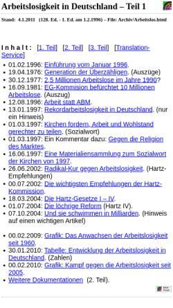 Vorschau der mobilen Webseite www.khd-research.net, Karl-Heinz Dittberner: Arbeitslosigkeit in Deutschland