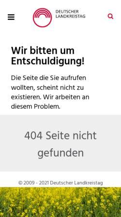 Vorschau der mobilen Webseite www.kreise.de, Optionskommunen
