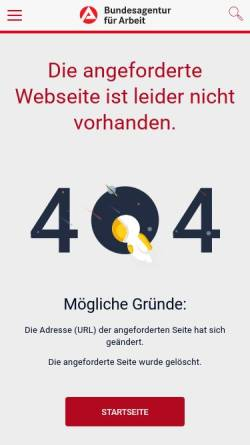 Vorschau der mobilen Webseite www.arbeitsagentur.de, Partner vor Ort