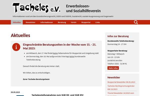 Vorschau von www.tacheles-sozialhilfe.de, Tacheles e.V.