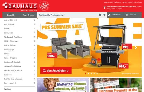 Vorschau von www.bauhaus.info, Bauhaus GmbH & Co. KG