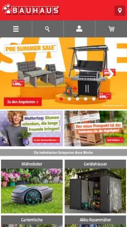 Vorschau der mobilen Webseite www.bauhaus.info, Bauhaus GmbH & Co. KG