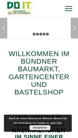 Vorschau der mobilen Webseite www.doitbaumarkt.ch, Do it Baumarkt