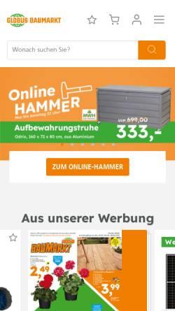 Vorschau der mobilen Webseite www.globus-baumarkt.de, Globus Baumarkt