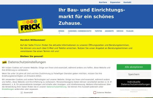 Vorschau von www.frick-fachmarkt.de, Goldkuhle Fachmärkte GmbH