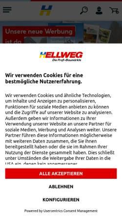 Vorschau der mobilen Webseite www.hellweg.de, Hellweg - Die Profi-Baumärkte GmbH & Co. KG
