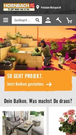 Vorschau der mobilen Webseite www.hornbach.de, Hornbach Baumarkt AG