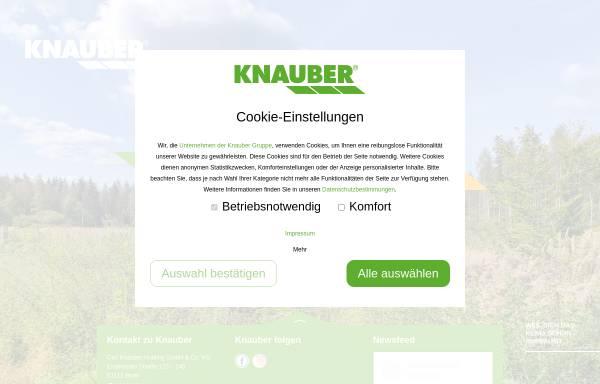 Vorschau von www.knauber.de, Knauber Freizeitmärkte