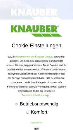 Vorschau der mobilen Webseite www.knauber.de, Knauber Freizeitmärkte