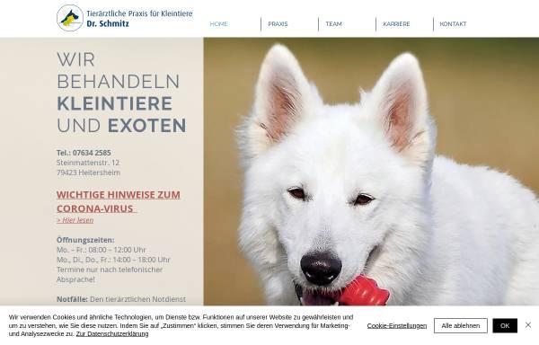 Vorschau von www.tierarzt-heitersheim.de, Tierärztliche Gemeinschaftspraxis Dr. Schmitz Dr. Teller