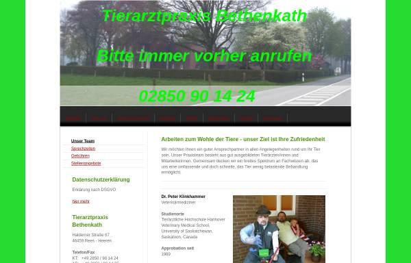 Vorschau von tieraerztliche-praxis-bethenkath.de, Tierärztliche Praxis Bethenkath