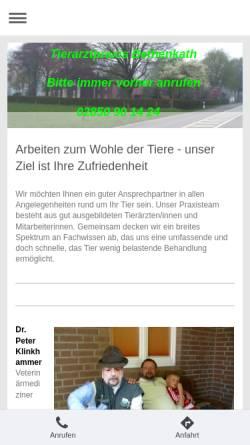 Vorschau der mobilen Webseite tieraerztliche-praxis-bethenkath.de, Tierärztliche Praxis Bethenkath