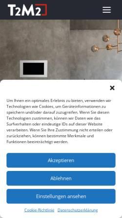 Vorschau der mobilen Webseite www.easyeib.de, T2M2 GmbH