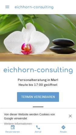 Vorschau der mobilen Webseite www.eichhorn-consulting.com, Eichhorn-Consulting - Michael Eichhorn