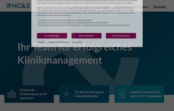 Vorschau von www.hcs-consult.de, Healthcare Consulting & Systemintegration AG