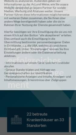Vorschau der mobilen Webseite www.hcs-consult.de, Healthcare Consulting & Systemintegration AG
