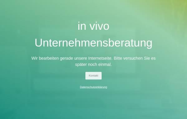 Vorschau von www.invivo-unternehmensberatung.com, In Vivo Unternehmensberatung GmbH
