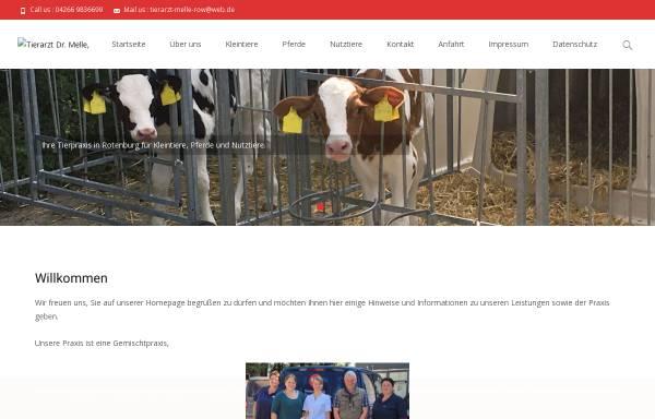 Vorschau von www.tierarzt-melle.de, Tierarztpraxis Dr. Torsten Melle