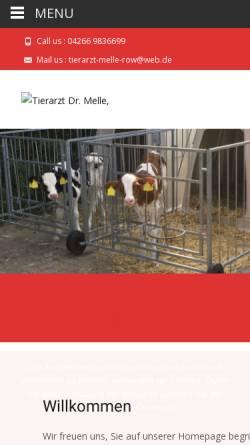 Vorschau der mobilen Webseite www.tierarzt-melle.de, Tierarztpraxis Dr. Torsten Melle