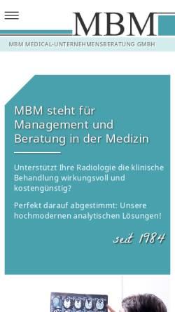 Vorschau der mobilen Webseite www.mbm-medconsult.de, MBM Medical-Unternehmensberatung GmbH