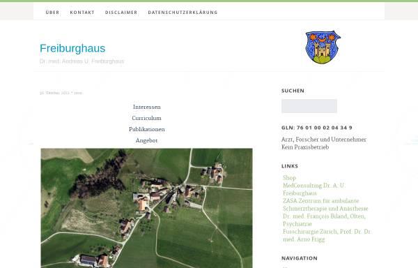 Vorschau von www.medconsulting.ch, MedConsulting Dr. A. U. Freiburghaus
