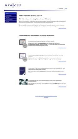 Vorschau der mobilen Webseite www.medicus-consult.de, Medicus Consult GmbH