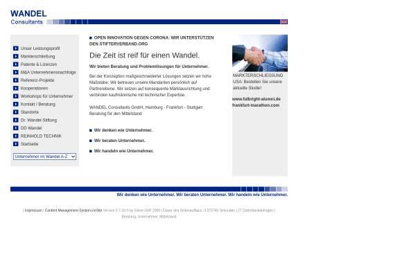 Vorschau von www.wandelconsultants.com, Wandel UnternehmerConsult - Dr. Hans-Ulrich Wandel