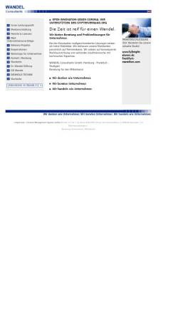 Vorschau der mobilen Webseite www.wandelconsultants.com, Wandel UnternehmerConsult - Dr. Hans-Ulrich Wandel