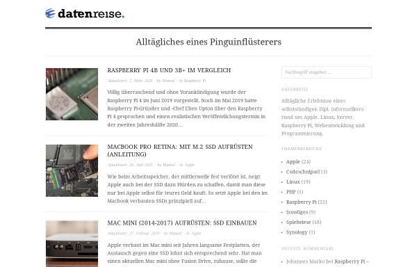 Vorschau von www.datenreise.de, datenreise.de