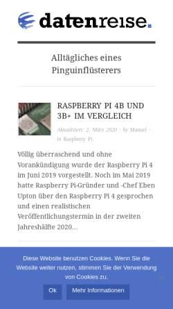 Vorschau der mobilen Webseite www.datenreise.de, datenreise.de
