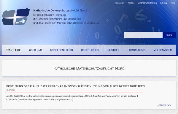 Vorschau von www.datenschutz-kirche.de, Datenschutz in der Katholischen Kirche
