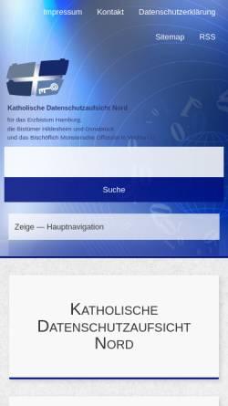 Vorschau der mobilen Webseite www.datenschutz-kirche.de, Datenschutz in der Katholischen Kirche