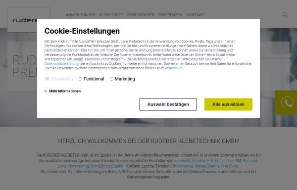Vorschau von www.ruderer.de, Ruderer Klebetechnik