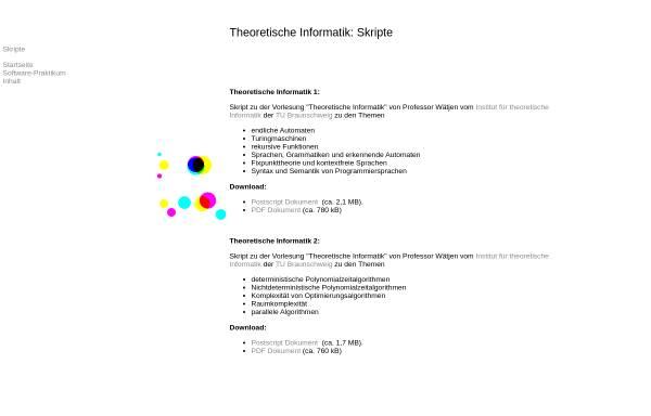 Vorschau von www.carsten-buschmann.de, Theoretische Informatik: Skripte