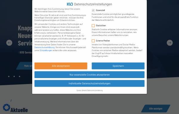 Vorschau von www.kvd.de, Kundendienst Verband Deutschland e.V.