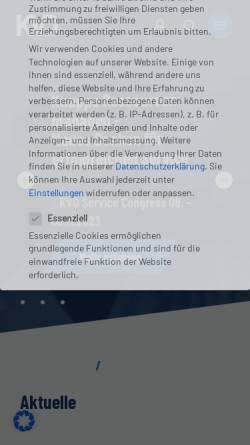 Vorschau der mobilen Webseite www.kvd.de, Kundendienst Verband Deutschland e.V.