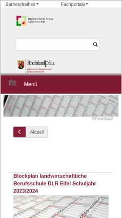 Vorschau der mobilen Webseite www.bbs-landwirtschaft.de, BBS-Landwirtschaft Bad Kreuznach