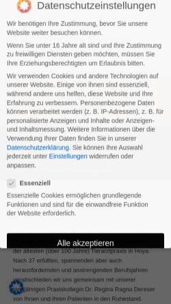 Vorschau der mobilen Webseite www.bossow.de, Tiergesundheit Bossow GmbH
