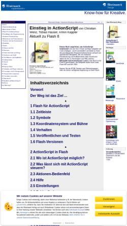 Vorschau der mobilen Webseite openbook.galileodesign.de, Einstieg in ActionScript