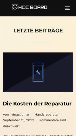 Vorschau der mobilen Webseite www.hoc-board.de, Home of Computerworld