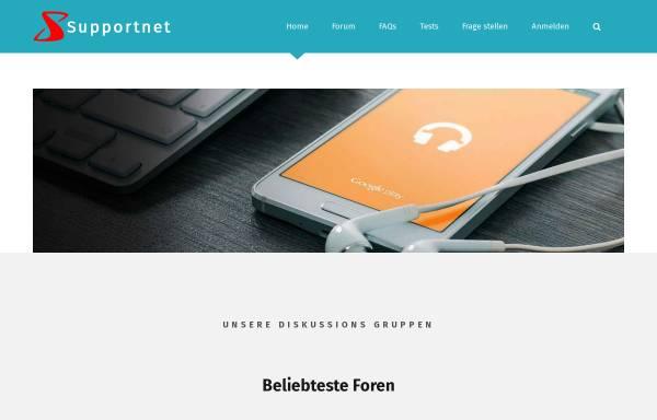 Vorschau von www.supportnet.de, Supportnet