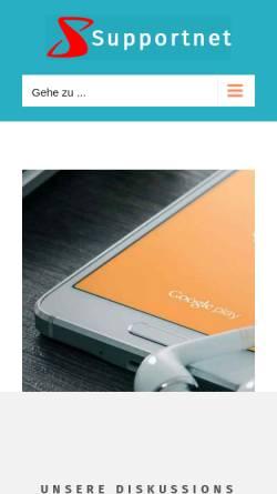 Vorschau der mobilen Webseite www.supportnet.de, Supportnet