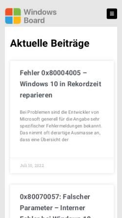 Vorschau der mobilen Webseite www.wintotal-forum.de, WinTotal Forum