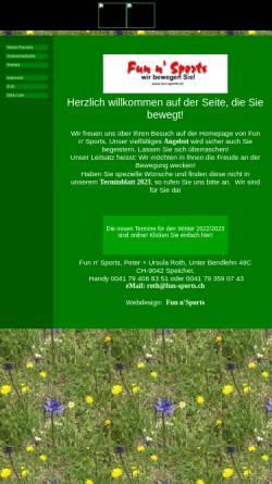Vorschau der mobilen Webseite www.fun-sports.ch, Fun n' Sports